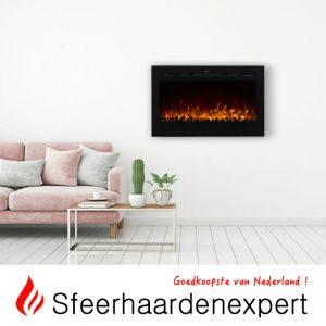 Brede elektrische Cinewall haard met verwarming