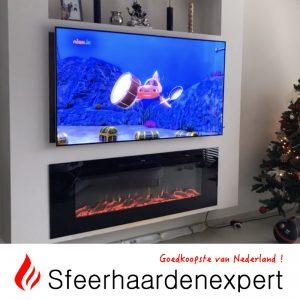 Noble Flame elektrische haard onder TV